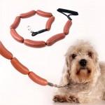 laisse saucisse ludique pour chien idée cadeau pour chien et chat
