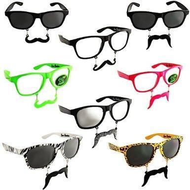 lunettes stylées 2 en 1 de soleil avec moustache
