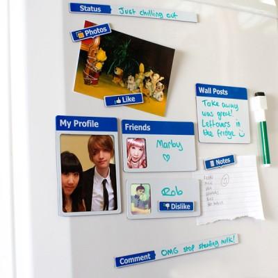magnets pour frigo réfrigérateur design facebook
