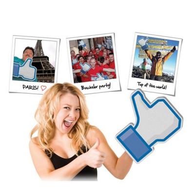 main géante gant design facebook j'aime