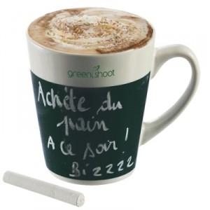 Mug avec possibilité d'inscription à la craie sur ardoise pour laisser n'importe quel message