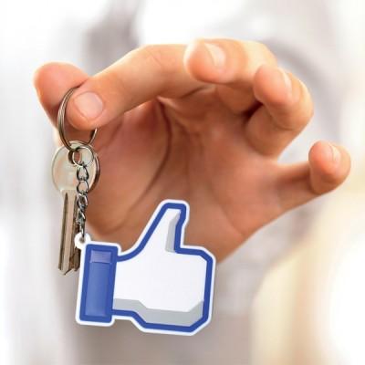 porte-clés design facebook j'aime