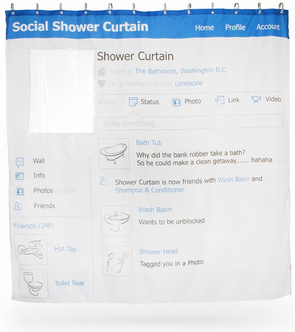 rideau de douche design facebook avec emplacement vide tête