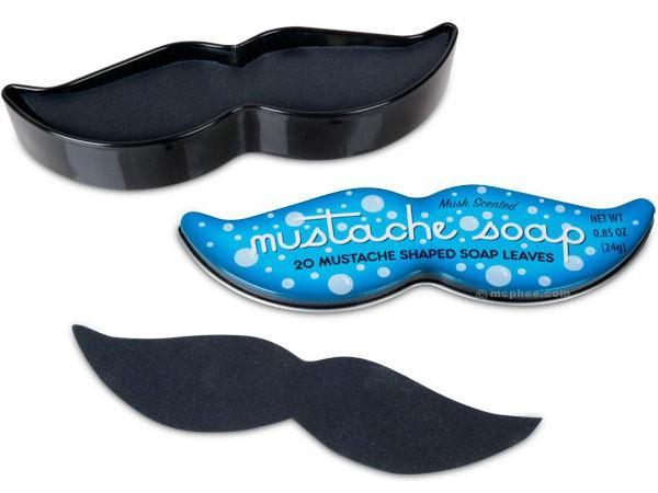 étui de 20 feuilles de savon en forme de moustache
