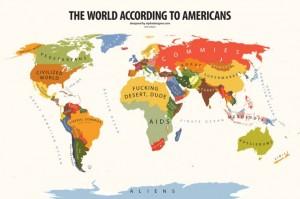 Carte du monde ou de l'Europe revisitées selon différents points de vue