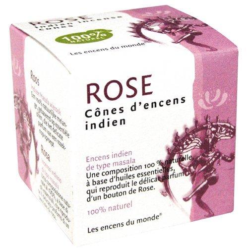 cones d'encens à la rose parfum d'intérieur à la rose