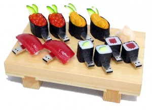 sélection de clés usb originales design nourriture