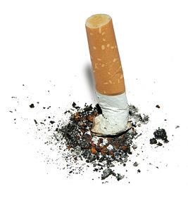 megot de cigarette écrasé, arrêt du tabac, sevrage tabagique