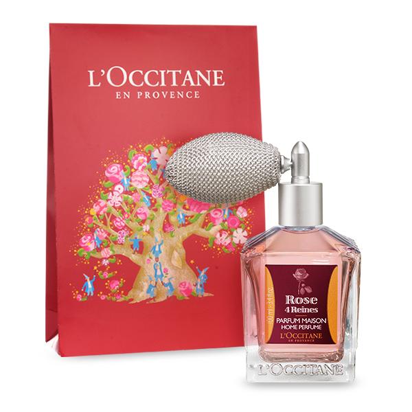 senteur d'intérieur à la rose de l'occitane, parfum rose 4 reines