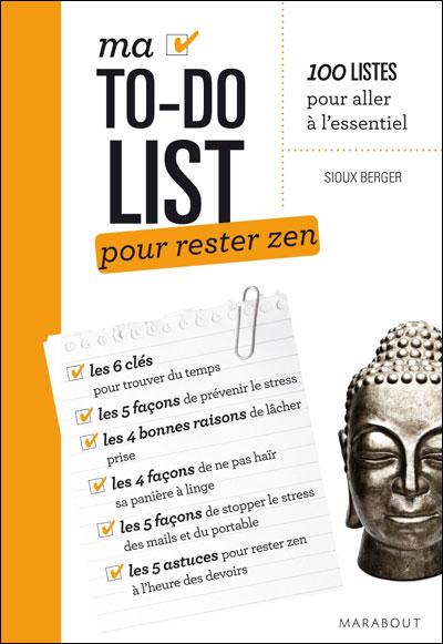 livre to-do list pour rester zen de sioux berger