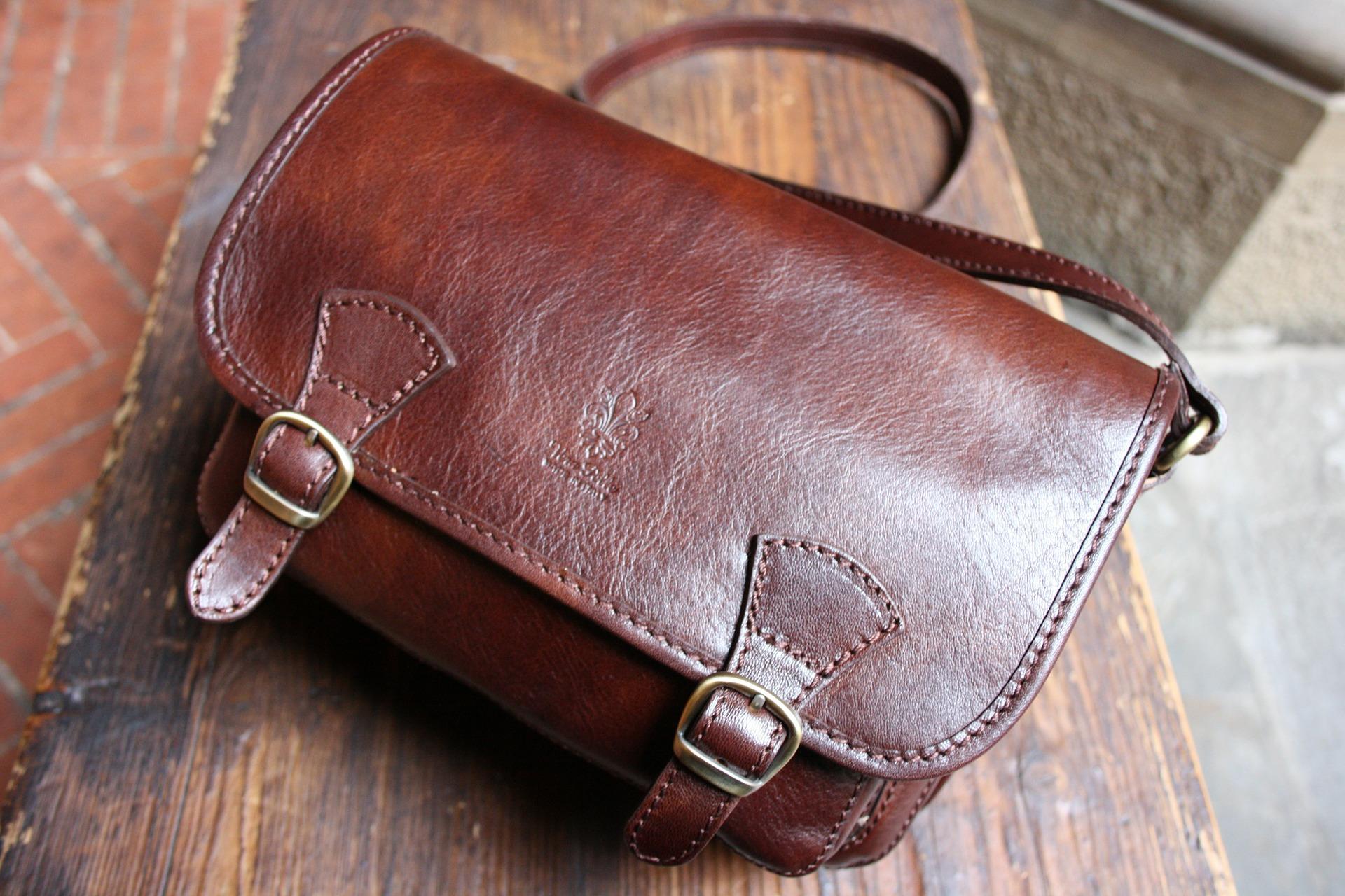sac cuir vintage