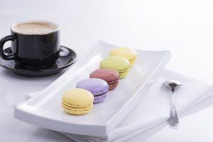 macarons et café